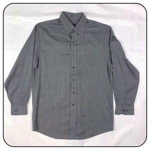 Jos.A.Bank Gray Medium Long Sleeve Shirt